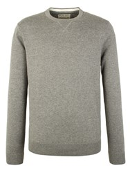 Racing Green Cutler Crew Neck Jumper Grey Marl