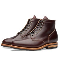 Viberg Plain Toe Service Boot Burgundy