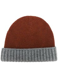 Loro Piana Bicolour Beanie Yellow Orange