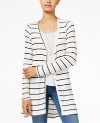 American Rag Striped High Low Cardigan Only At Macy's Classic Black