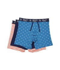 Original Penguin 3 Pack Boxer Brief Seaport Medieval Blue Mecca Orange Solar Stripe Men's Underwear Multi