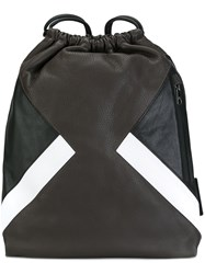 Neil Barrett Drawstring Backpack Brown