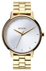 Nixon 'The Kensington' Bracelet Watch 37Mm Gold White