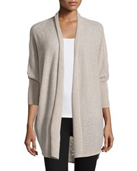Neiman Marcus Cashmere Collection Open Front Dolman Sleeve Cardigan Women's