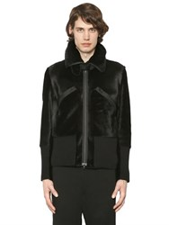 Ann Demeulemeester Ponyskin And Knit Jacket