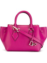 Diane Von Furstenberg 'Voyage' Satchel Pink And Purple
