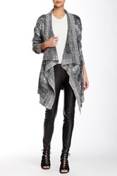 Romeo And Juliet Couture Shawl Collar Open Front Cardigan Black