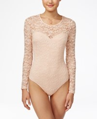 Material Girl Juniors' Illusion Lace Bodysuit Only At Macy's Blush