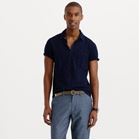 J.Crew Wallace And Barnes Indigo Polo Shirt In Anchor Print