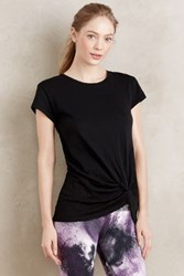 Anthropologie Side Tie Tee Black