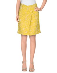 Pt0w Skirts Mini Skirts Women Yellow