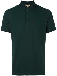 Burberry Embroidered Logo Polo Shirt Green
