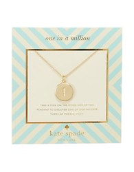 Kate Spade One In A Million Letter I Pendant Necklace Gold