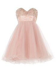 Anoushka G Ella Luxurious Tulle Prom Dress Pink