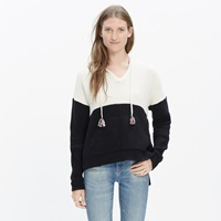 Madewell Colorblock Hoodie Sweater