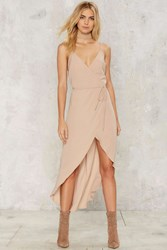 Isn't She Lovely Wrap Dress Beige