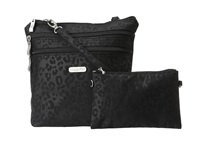 Baggallini Zipper Bagg Cheetah Black Cross Body Handbags