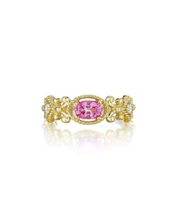Penny Preville Pink Emerald And Diamond Ring 0.10 Tcw