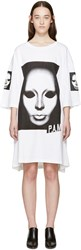 Perks And Mini White Game Face T Shirt Dress
