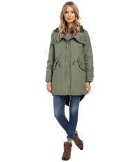 Obey Brighton Parka Jacket Army Women's Coat Green