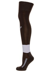 Hummel St. Pauli Knee High Socks Chocolate Brown White
