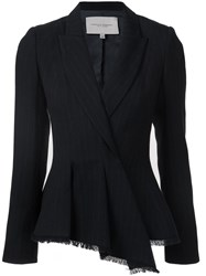 Carolina Herrera Folded Peplum Jacket Blue