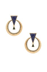 House Of Harlow Hymn To Selene Statement Earring Metallic Gold