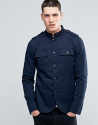 Pretty Green Lennon Jacket Military In Slim Fit Navy Navy