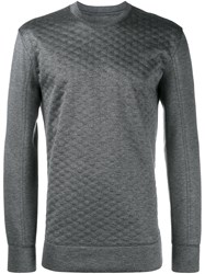 Helmut Lang Quilted Sweatshirt Grey