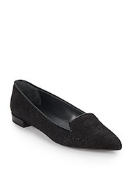 Stuart Weitzman Piperialto Studded Leather Loafers Black
