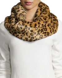 Hat Attack Faux Fur Leopard Print Infinity Scarf