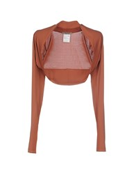 Toy G. Topwear Shrugs Women Rust
