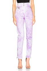 Roberto Cavalli Stretch Acid Wash Pants In Purple