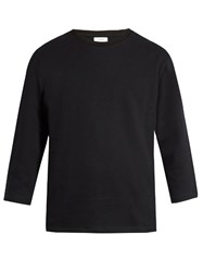 Fanmail Crew Neck Cotton Jersey Sweatshirt Black