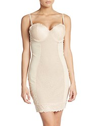 Joan Vass Lace Panel Firm Control Shaping Slip Nude