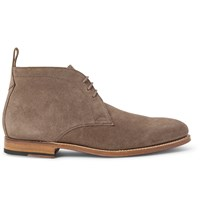 Grenson Marcus Washed Suede Chukka Boots Neutrals
