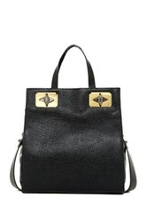 Treesje Greta Leather Tote Black