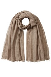 Rick Owens Cashmere Scarf With Silk Brown