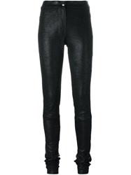 Ann Demeulemeester Distressed Leggings Black