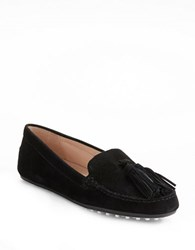 French Connection Tori Suede Loafers Black