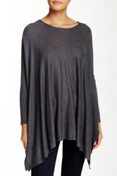 Romeo And Juliet Couture Asymmetrical Sweater Gray