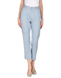 Jucca Trousers Casual Trousers Women Blue