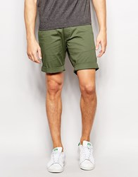 Selected Homme Chino Shorts Olive Green