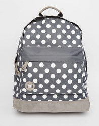 Mi Pac All Polka Backpack In Charcoal Charcoal Grey