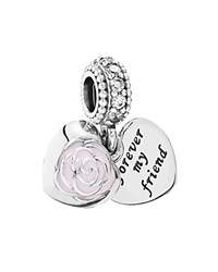 Pandora Design Pandora Charm Sterling Silver Cubic Zirconia And Enamel Forever My Friend Charm Moments Collection