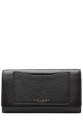 Marc Jacobs Leather Recruit Continental Flap Wallet Black