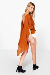 Pheobe Woven Low Dipped Back Top