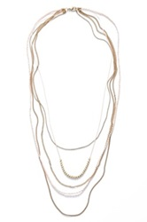 Stephan And Co Rope Layering Necklace Pink