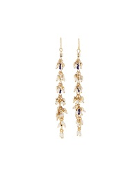 Lydell Nyc Starfish Detail Linear Drop Earrings Multicolor Golden