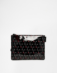 Lulu Guinness Two Face Printed Medium Make Up Bag Twoface